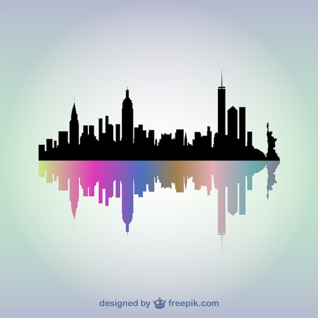 new york skyline vector free download