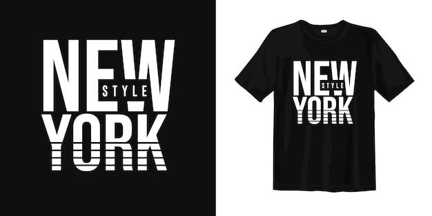 ニューヨークスタイルのグラフィックtシャツデザイン Premiumベクター