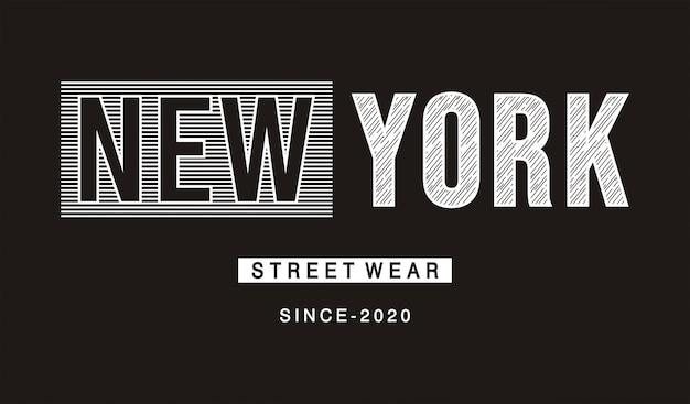 Нью-йорк типография для печати майка Premium векторы