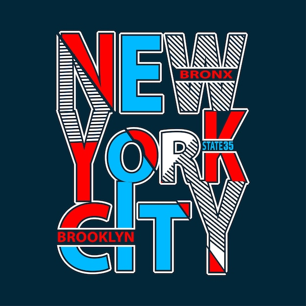 New york typography t shirt printing vector Premium Vector