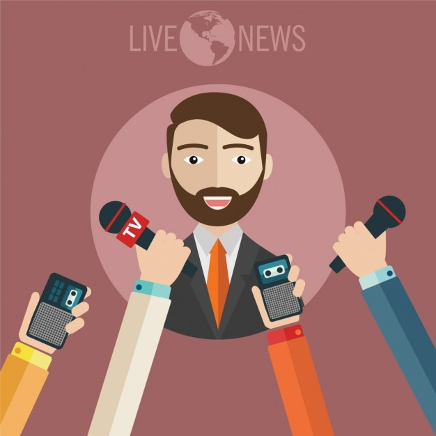 News background design Free Vector