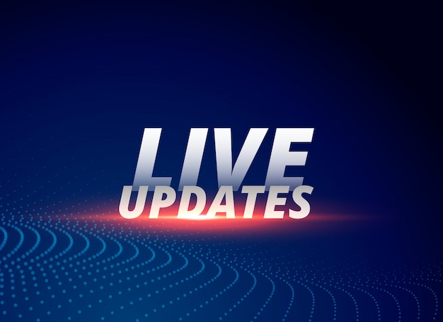 News background with text live updates Free Vector