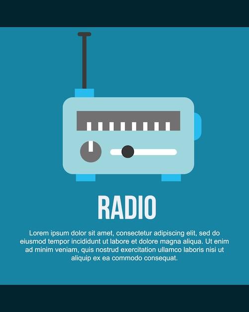News communication radio information sign Premium Vector