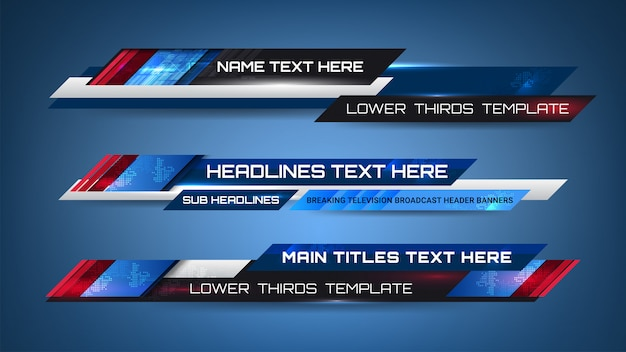 News graphic banners Premium Vector