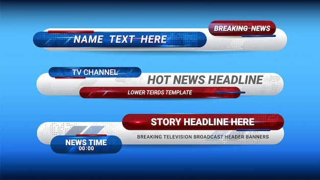 News lower thirds template Premium Vector