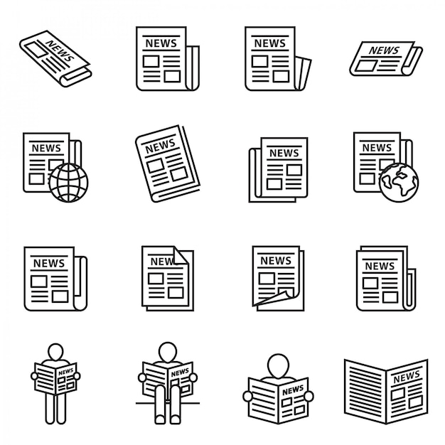 News publish, newspaper Premium Vector