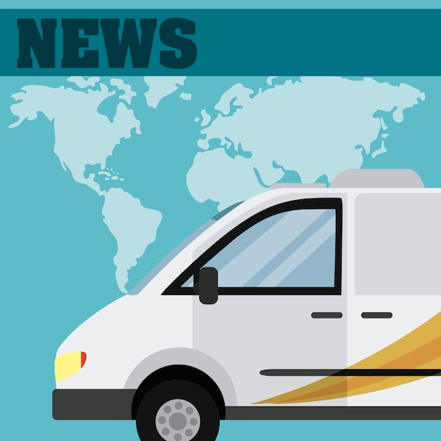 News time concept Premium Vector