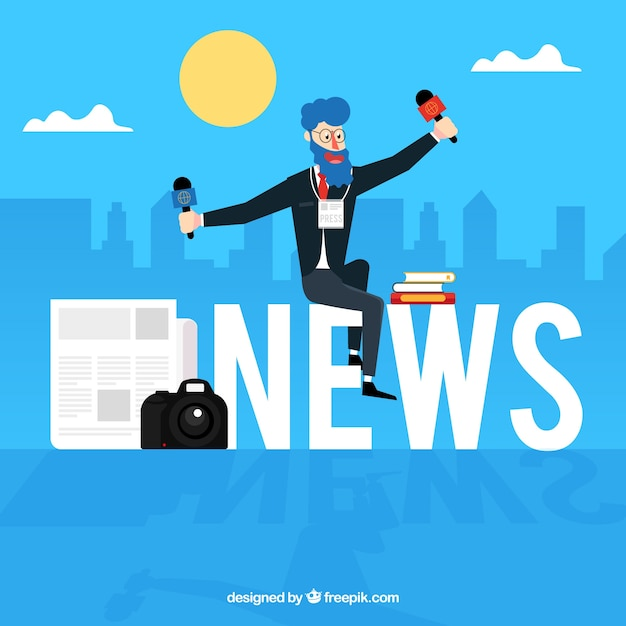 News word concept Free Vector