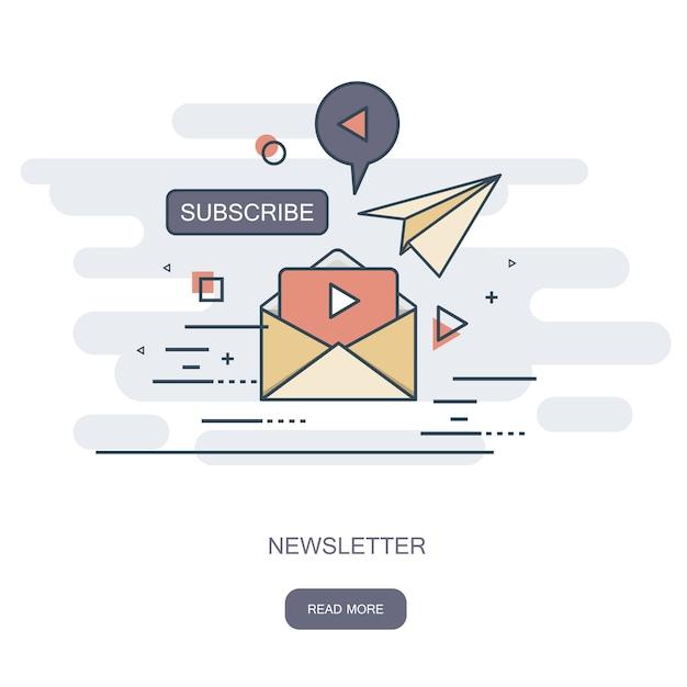 Newsletter concept Premium Vector
