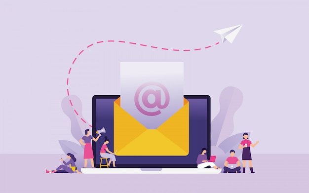 Newsletter and marketing email concept vector illustration Premium Vector