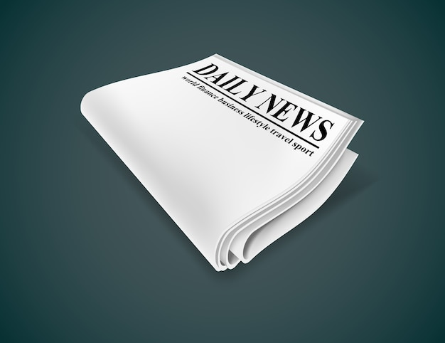 Газета. иллюстрация, изолированные на темном фоне. Premium векторы