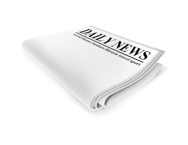 Газета. изолированная иллюстрация Premium векторы