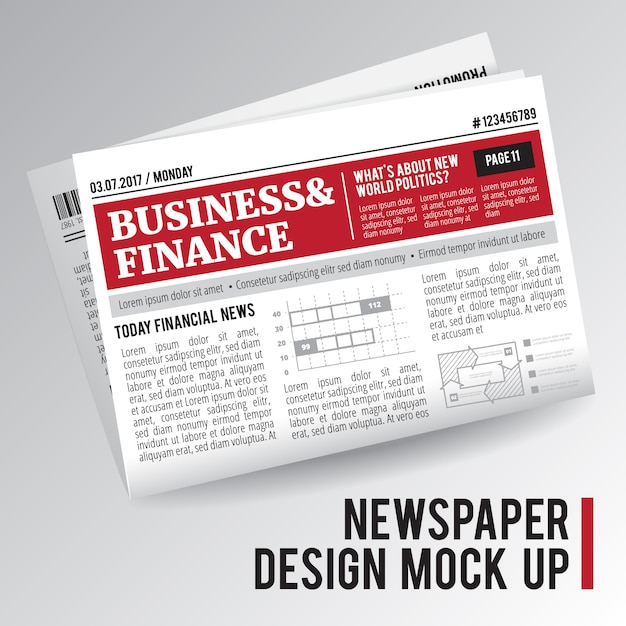 Giornale mock up Vettore gratuito