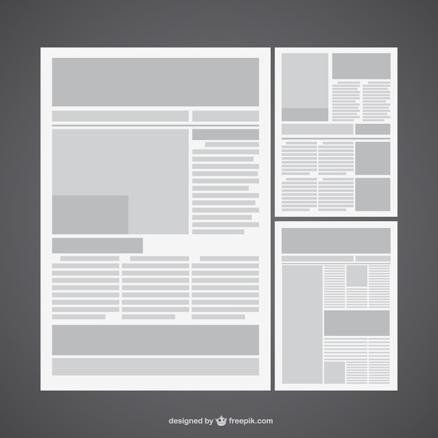 Newspaper pages Free Vector