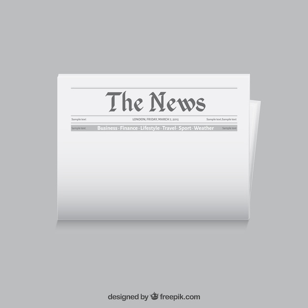 Newspaper template Free Vector