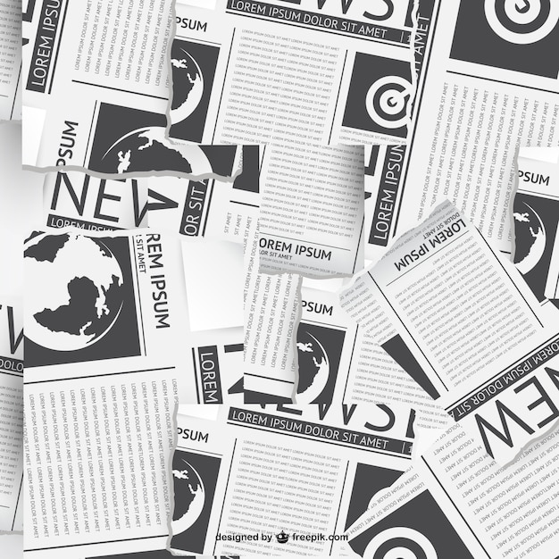 Newspapers collage Vector | Free Download