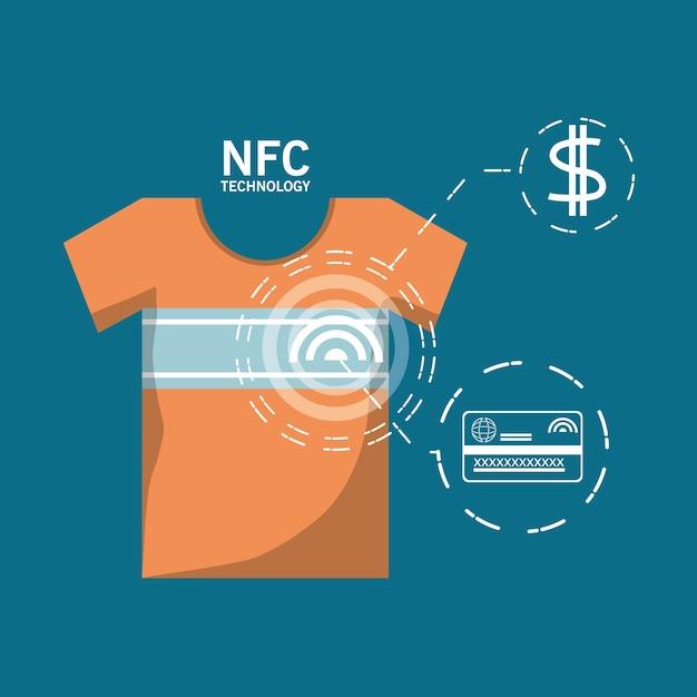 Nfc payment design concept Vector | Premium Download