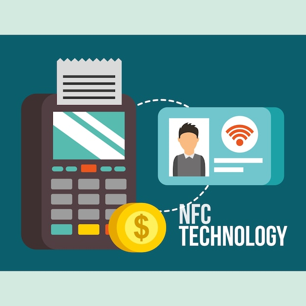Nfc payment technology Premium Vector