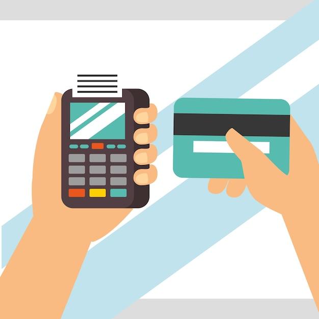 Nfc payment technology Premium Vector