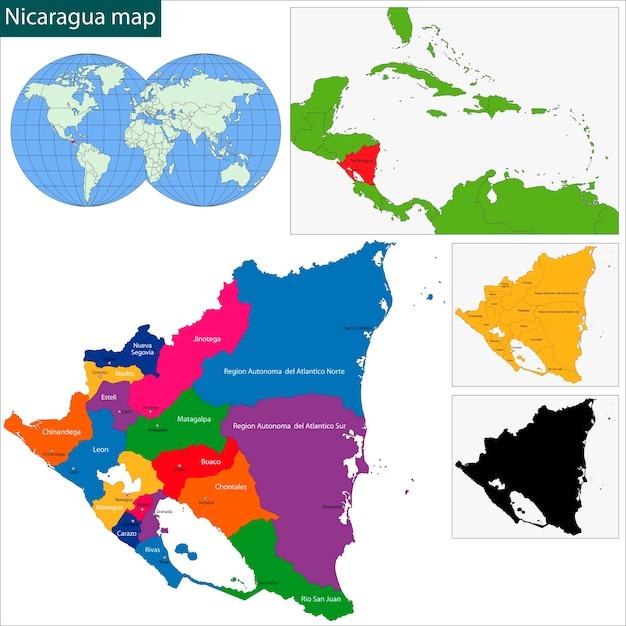 Nicaragua Map Vector Premium Download - Nicaragua map download