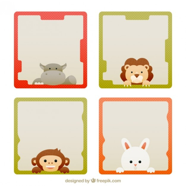 Nice and cute animal frames Vector | Free Download