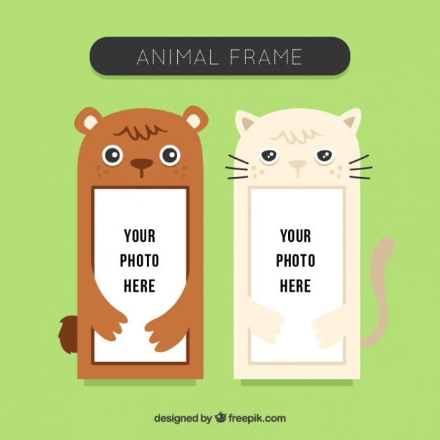 Nice animal photo frames set Vector | Free Download