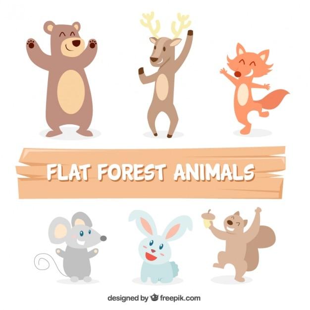 Nice animals dancing set