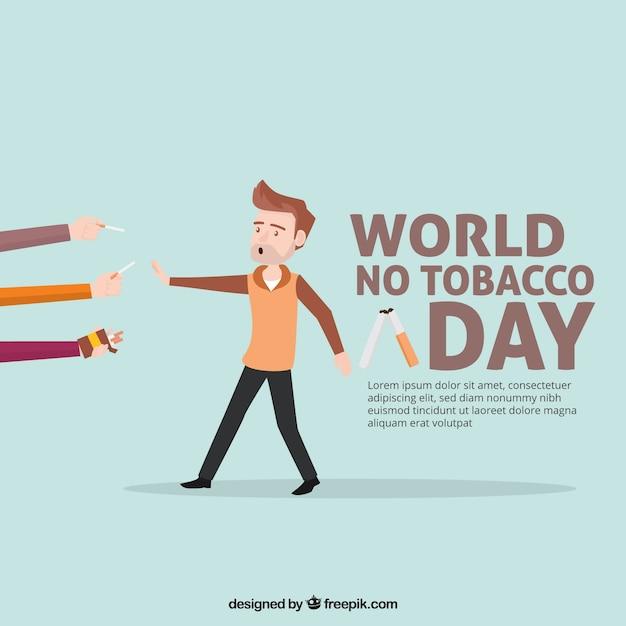 Nice anti-smoking day background Free Vector