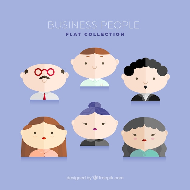 Nice avatars business people in flat\ design