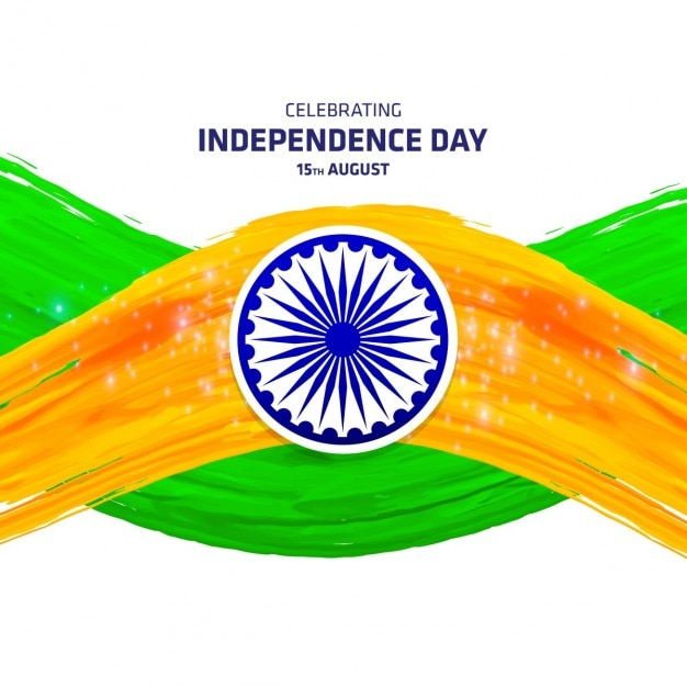 Nice background for independence day of india, watercolor brush strokes