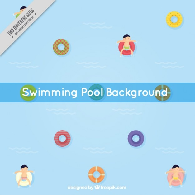 Nice background in a swimming pool with\ floats