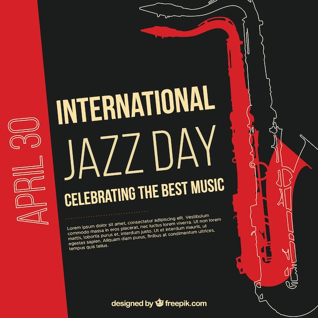 Nice background for international jazz day Free Vector