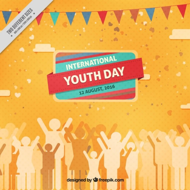 Nice background of people celebrating youth\ day