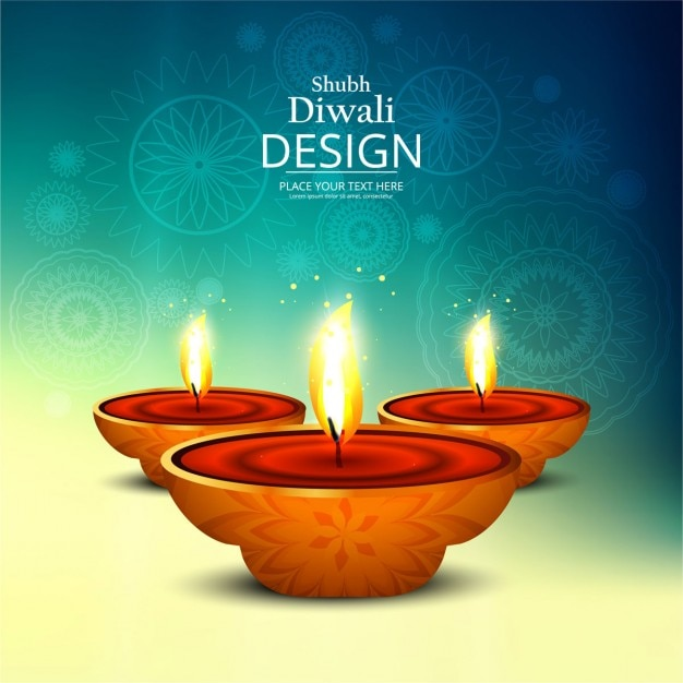 Nice background to celebrate diwali Free Vector
