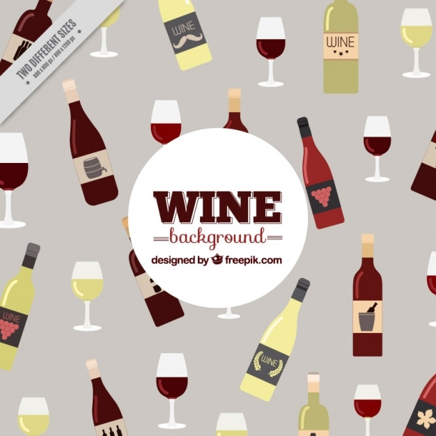 Nice background with bottles of different types\ of wine and glasses
