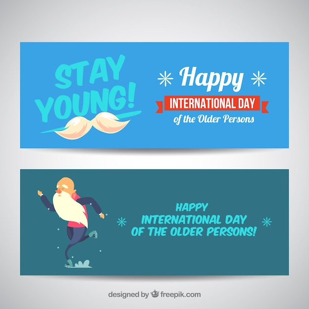 Nice banners of older persons international\ day
