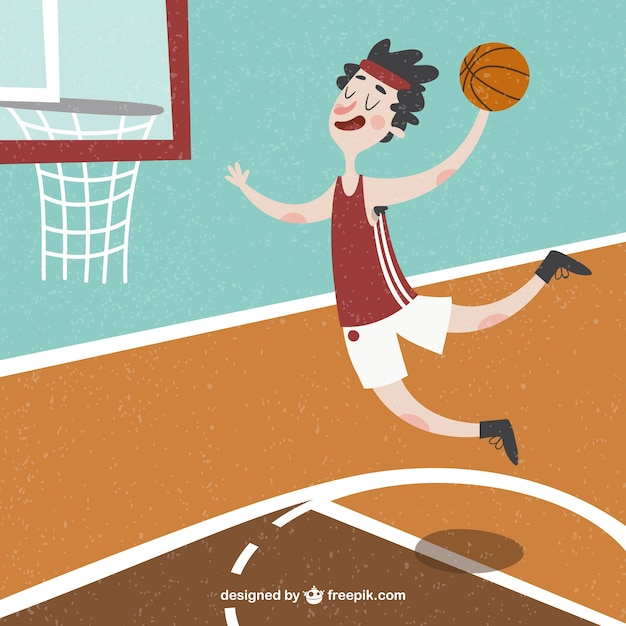 Nice basketball player background Vector | Free Download