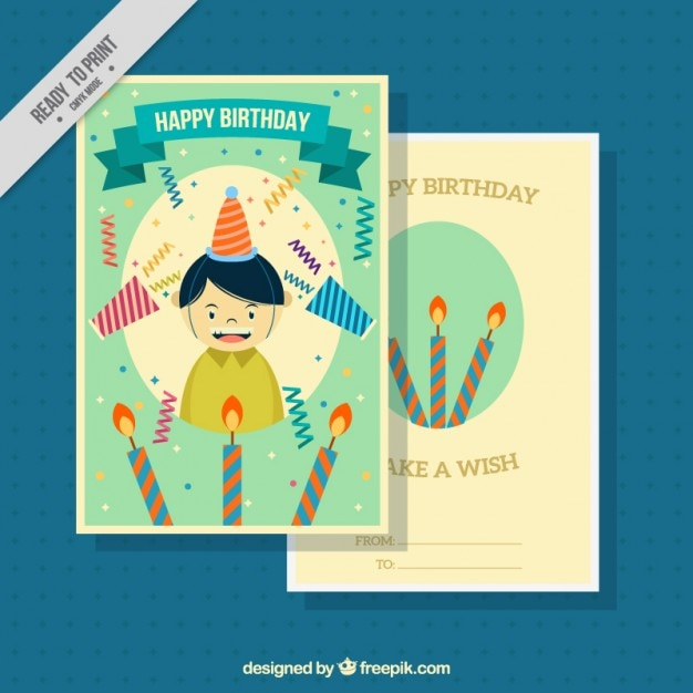 Nice birthday card with candles