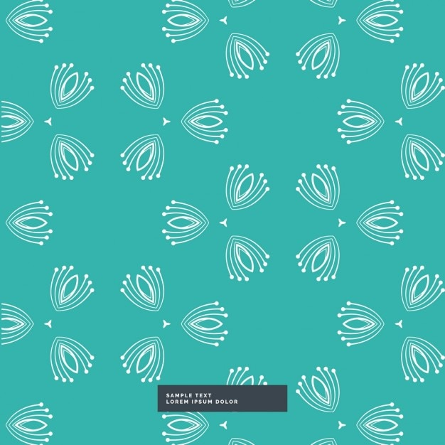 Nice blue background with a white pattern Vector | Free ...