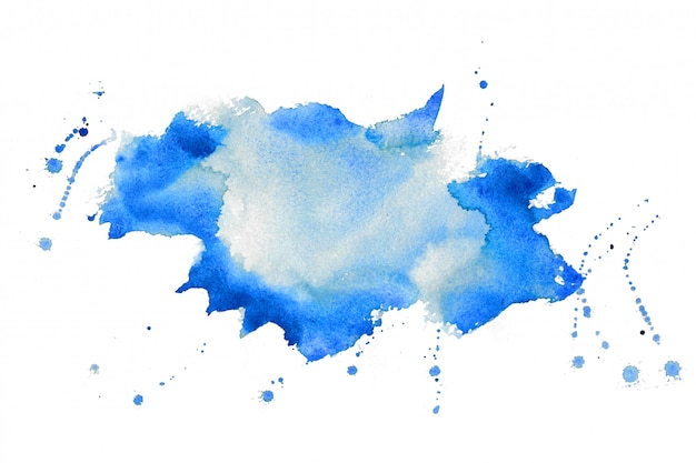 Nice blue watercolor stain texture background design Free Vector