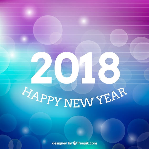 Nice blurred new year background in purple and blue