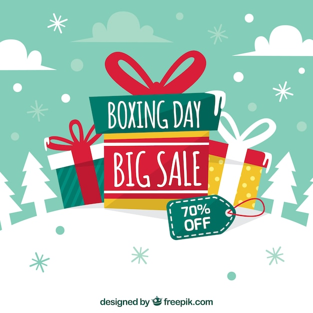 Nice boxing day sale background