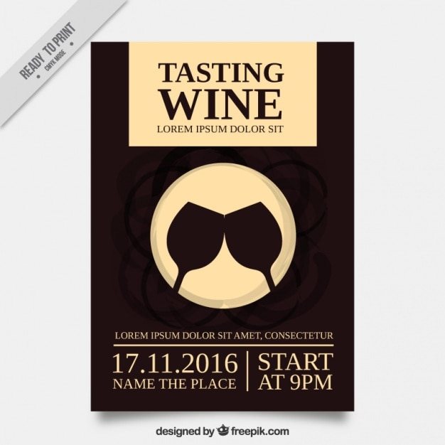 Wine tasting vectors photos and psd files free download nice brochure for a wine tasting pronofoot35fo Images