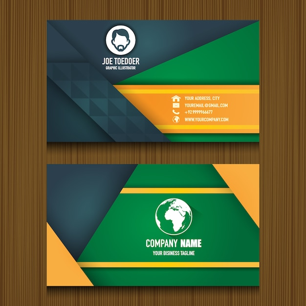Nice Business Card Template Vector | Premium Download