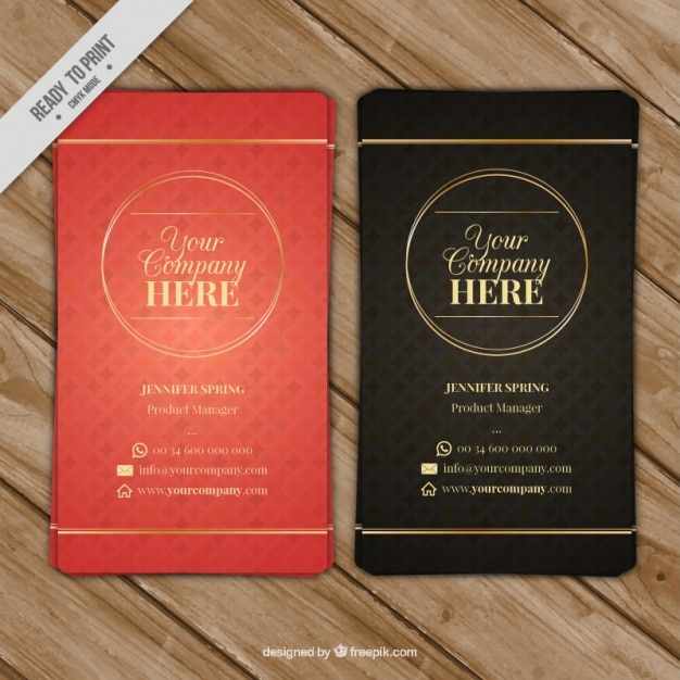 Nice business card with geometric background Vector