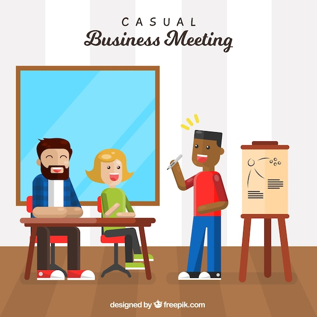 Nice business meeting background