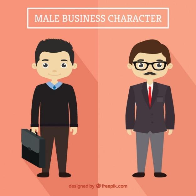 Nice businessmen Free Vector