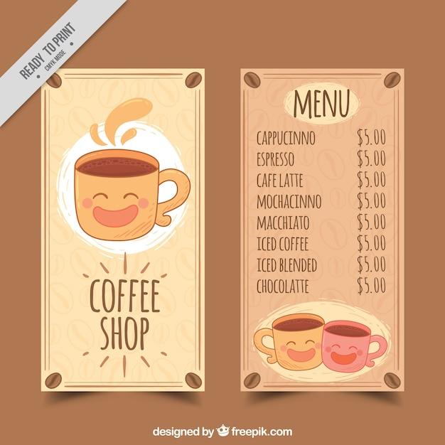 Nice cafe menu Free Vector