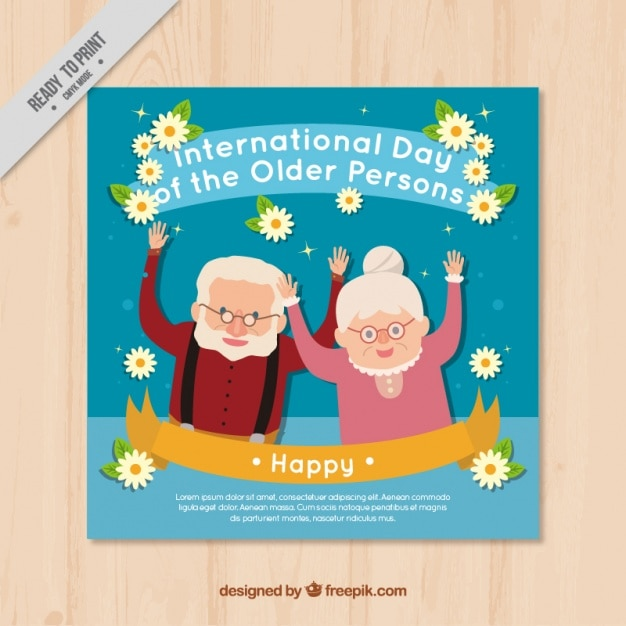 Nice card of international older persons\ day