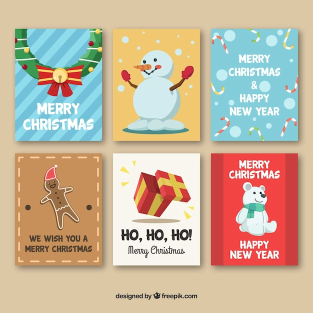 Nice cards with christmas elements